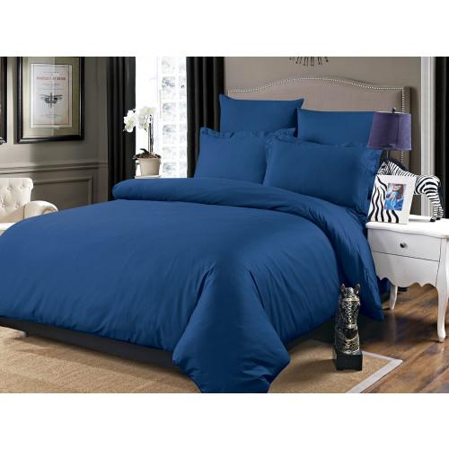 Постельное белье Karna Sansolid (синий)