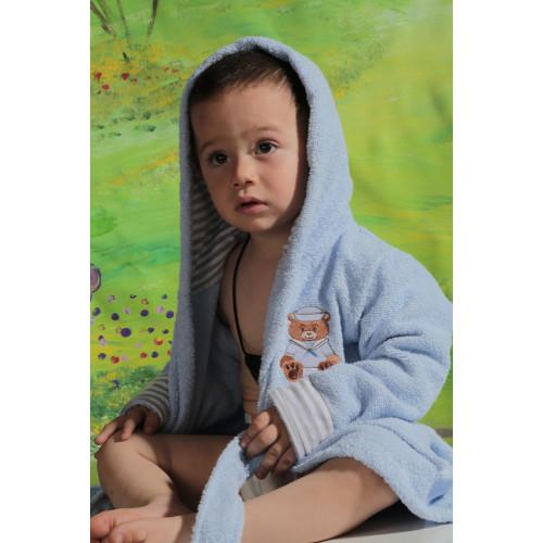 Халатик детский Karna Teeny (голубой)