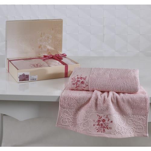 Набор полотенец Karna Viola (светло-розовый, 2 предмета)