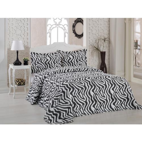 Покрывало Karna Zebra (черное) 240x260