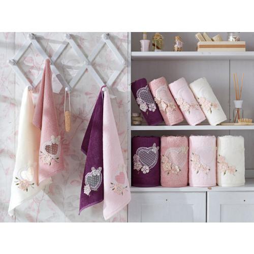 Набор полотенец La Villa Aimer (темно-розовый) 3 предмета