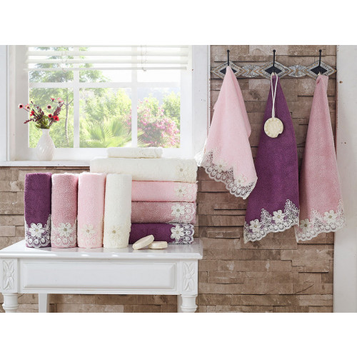 Набор полотенец La Villa Baley (розовый) 3 предмета