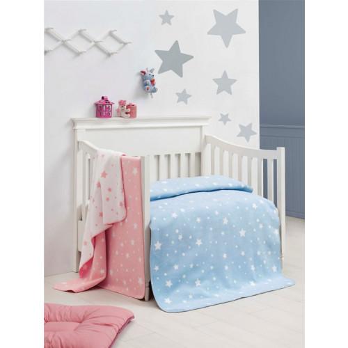 Детский хлопковый плед Arya Little Star (голубой) 100x120