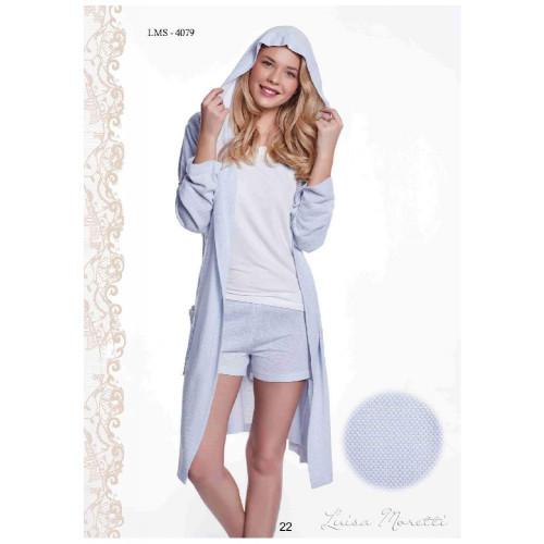Пижама c халатом Luisa Moretti LMS-4079 (голубой)