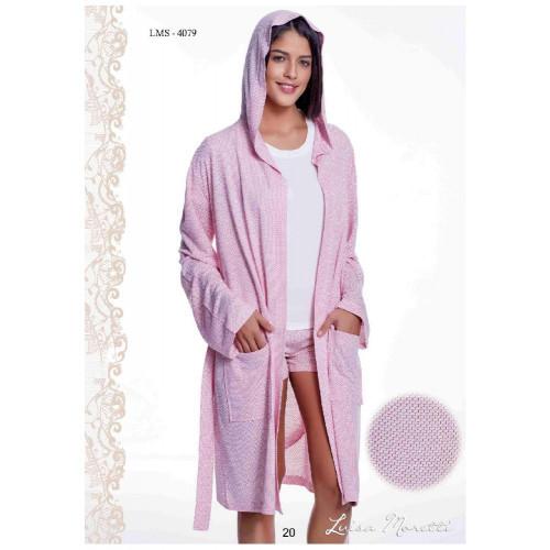 Пижама c халатом Luisa Moretti LMS-4079 (розовый)