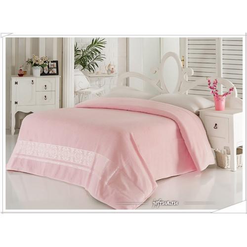 Махровая простынь Karna Classic светло-розовая