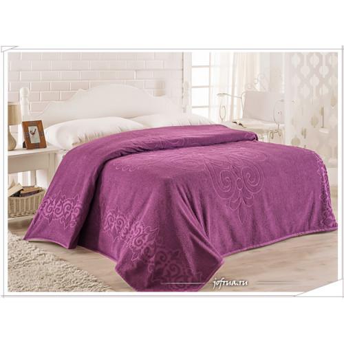 Махровая простынь Karna Orient фиолетовая