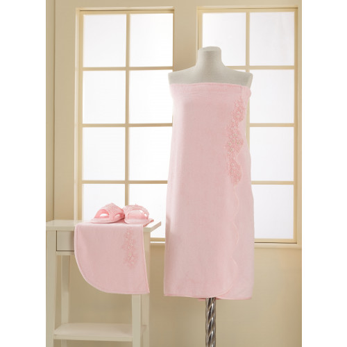 Набор для сауны женский Soft Cotton Masal (розовый) размер S-L