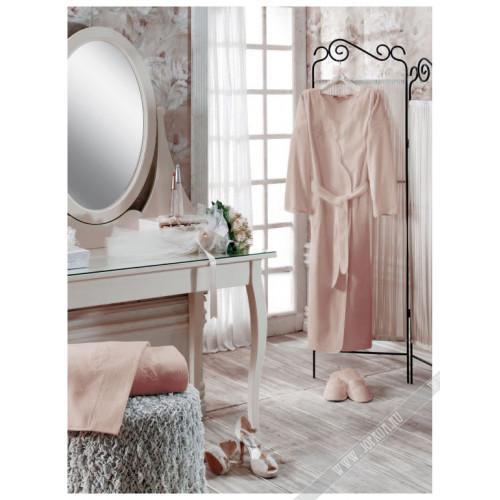 Халат женский Soft Cotton Melis (пудра-бежевый)