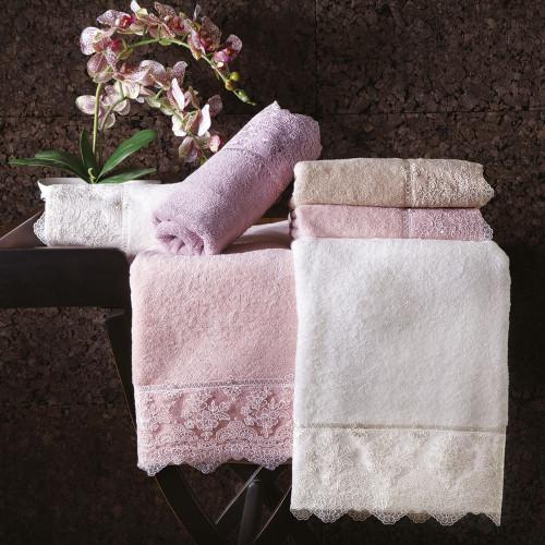 Набор полотенец Tivolyo Minosa (фиолетовый) 2 предмета