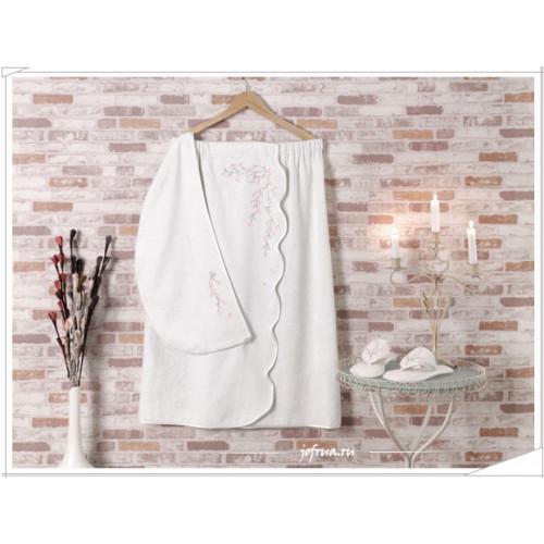 Набор для сауны женский Soft Cotton Ruya (кремовый) размер S-L
