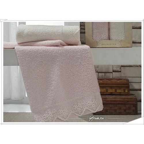 Набор полотенец Altinbasak Alin (кремовый-розовый, 2 предмета)
