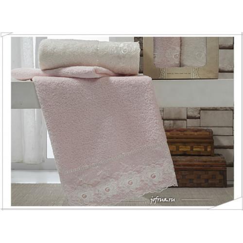 Набор полотенец Altinbasak Jolie (кремовый-розовый, 2 предмета)