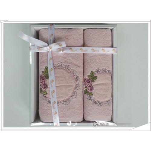 Набор полотенец Arya Aros розовый (2 предмета)