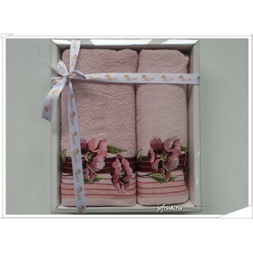 Набор полотенец Arya Enar розовый (2 предмета)