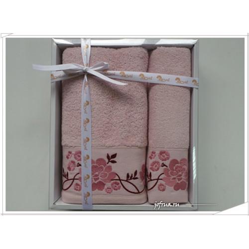 Набор полотенец Arya Flos розовый (2 предмета)