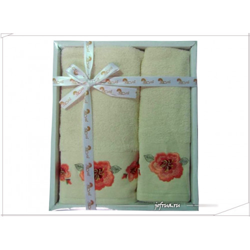 Набор полотенец Arya Gulistan кремовый (2 предмета)