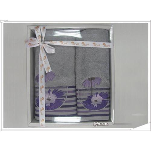 Набор полотенец Arya Papatya серый (2 предмета)