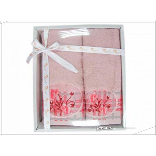 Набор полотенец Arya Salkim розовый (2 предмета)