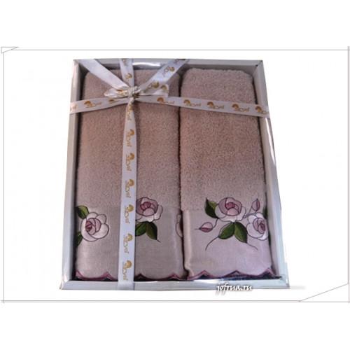 Набор полотенец Arya Tohum розовый (2 предмета)