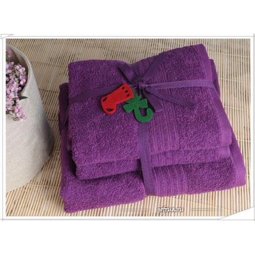 Набор полотенец Irya Shalla (фиолетовый)
