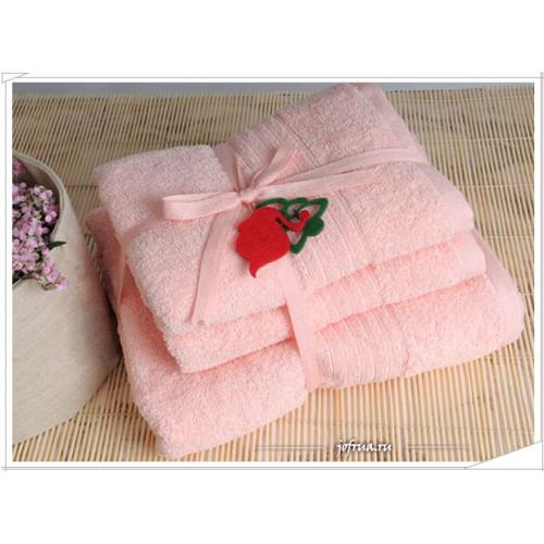 Набор полотенец Irya Shalla (светло-розовый)