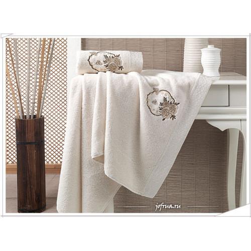 Набор полотенец Karna Demet (кремовый, 2 предмета)
