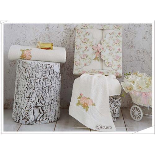 Набор полотенец Karna Romance (кремовый, 2 предмета)
