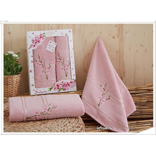 Набор полотенец Karna Sakura (чайная роза, 2 предмета)
