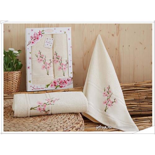 Набор полотенец Karna Sakura (кремовый, 2 предмета)