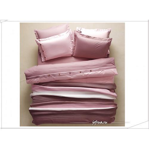 Набор с вязаным пледом Karaca Home Bold (розовый)
