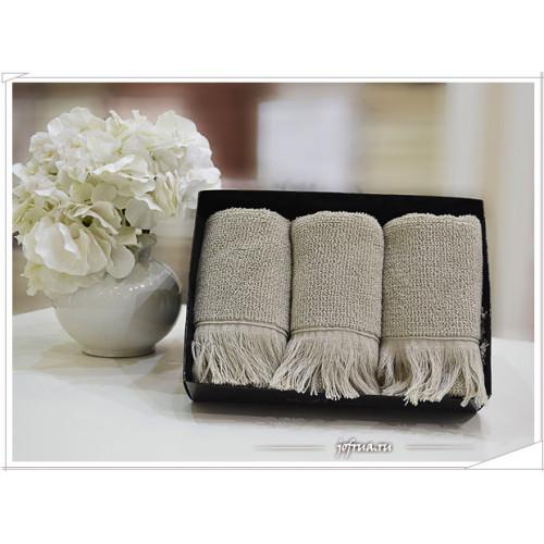 Набор салфеток Soft Cotton Fringe бежевый (3 предмета)