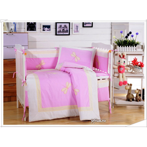 Набор постельного белья в детскую кроватку DK-23 (7 предметов)