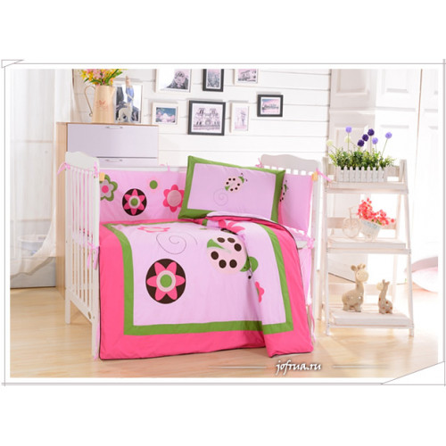 Набор постельного белья в детскую кроватку DK-21 (7 предметов)