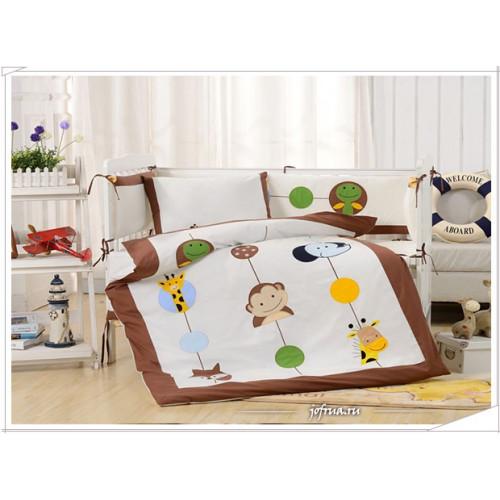 Набор постельного белья в детскую кроватку DK-26 (7 предметов)