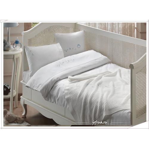 Набор в кроватку с покрывалом Tivolyo ABC (голубой)