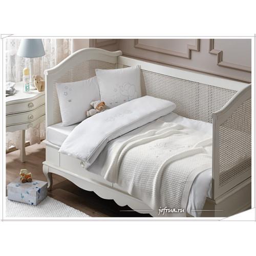 Набор в кроватку с покрывалом Tivolyo Elephant (голубой)