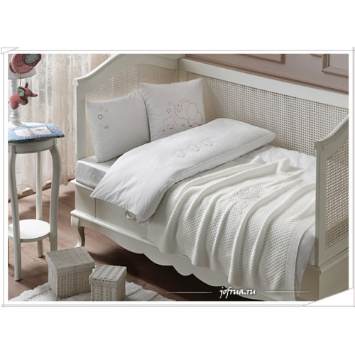 Набор в кроватку с покрывалом Tivolyo Elephant (розовый)