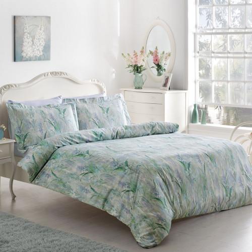 Постельное белье Tivolyo Fleur (лиловое) 1.5-спальное