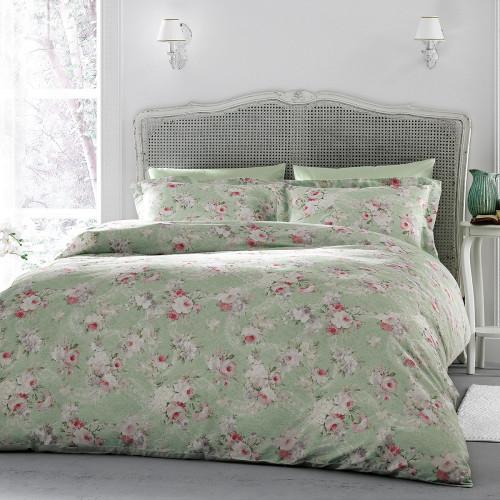 Постельное белье Tivolyo Home Rose Dantela (зеленое)