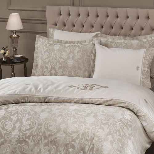 Tivolyo Home Emperium (кремовый) комплект постельного белья евро