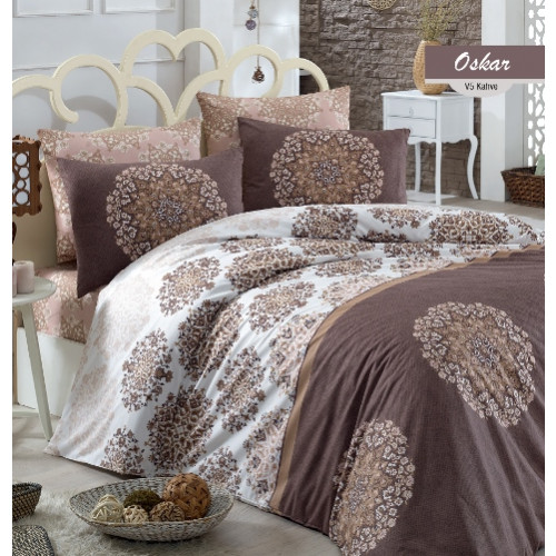 Постельное белье Arya Oscar (коричневое)