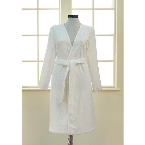 Халат женский Soft Cotton Pandora (кремовый)