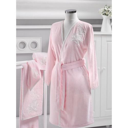 Халат женский Soft Cotton Pandora (розовый)