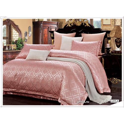 Постельное белье Arya Pure Layla (розовый) евро