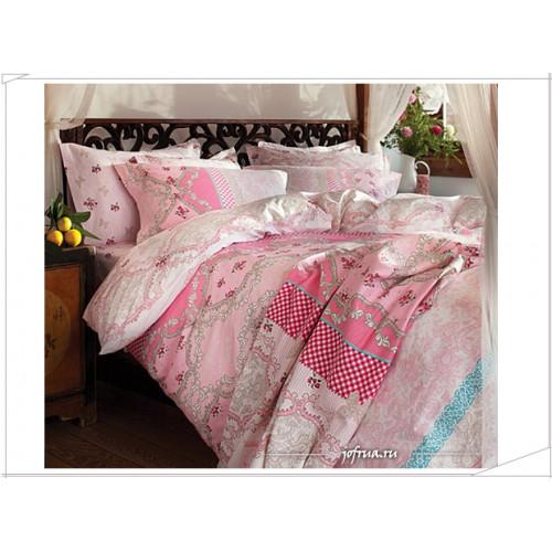 Постельное белье Karaca Home Katre (розовое)
