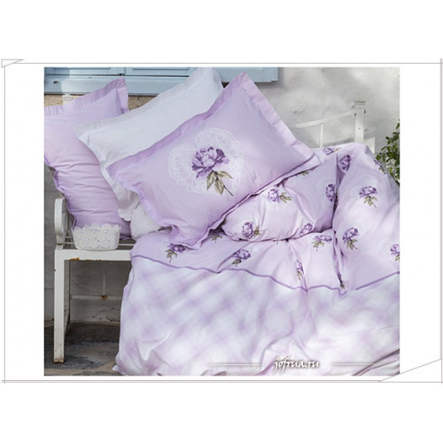Постельное белье Karaca Home Liora (лиловое)