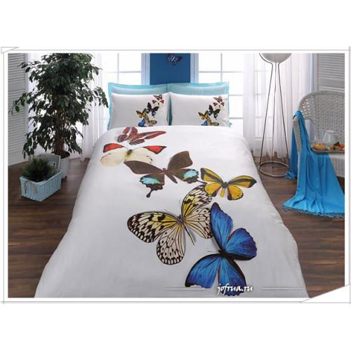 Постельное белье TAC 3D Butterfly (голубое)