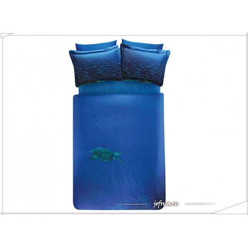 Постельное белье TAC Derin Tutku Blue евро