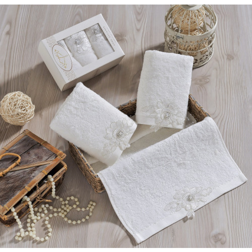 Набор салфеток Irya Romantic (молочный) 30x50 (3 шт.)